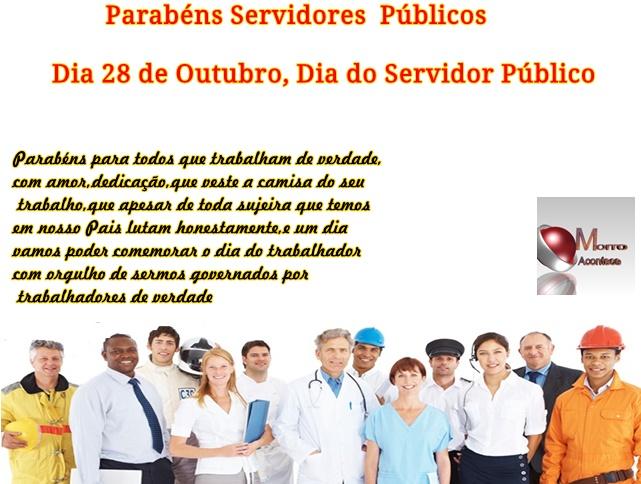 Parabéns a todos os Servidores Públicos pelo seu dia!