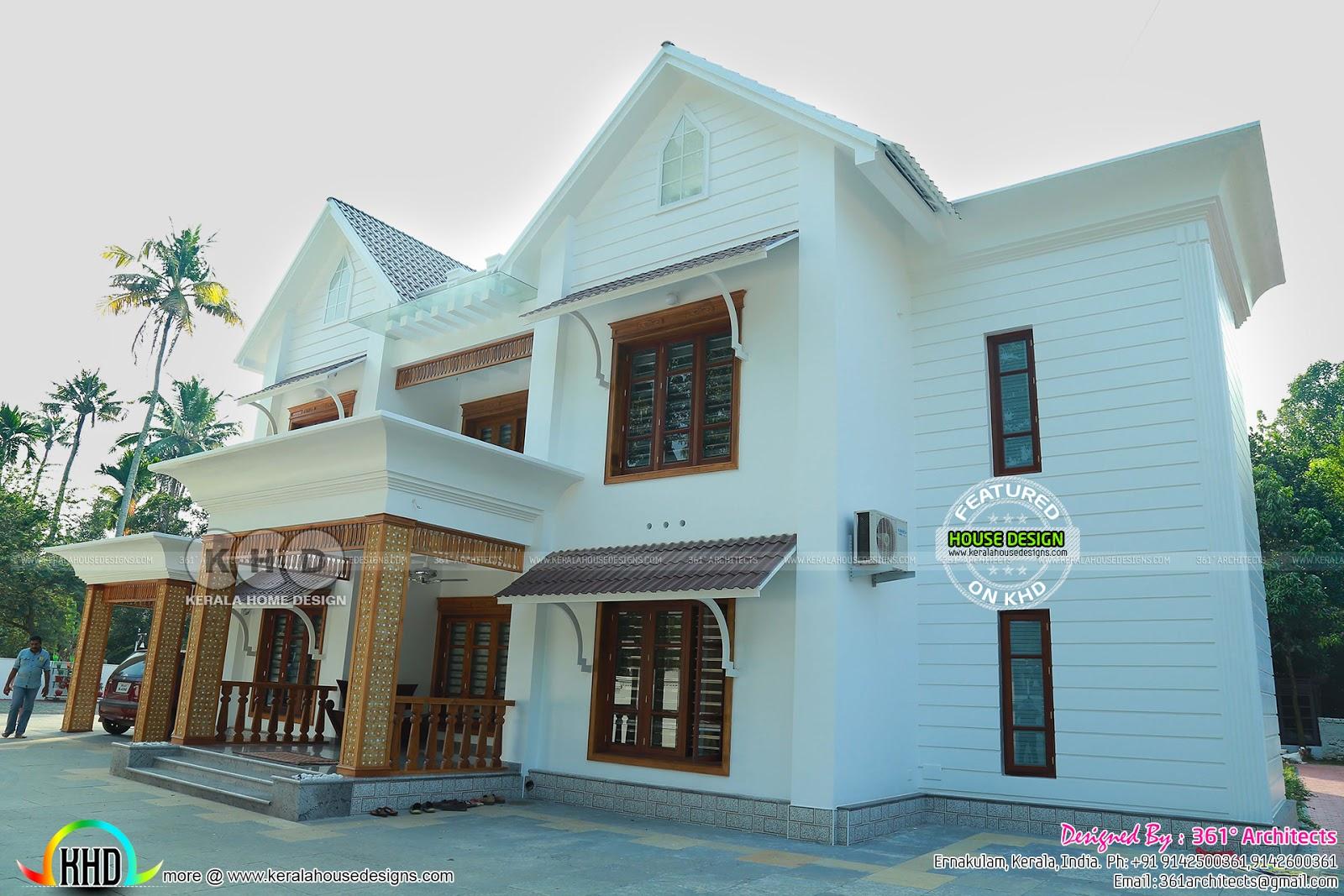 Front Elevation Ground Floor : European model bedroom finished house kerala home