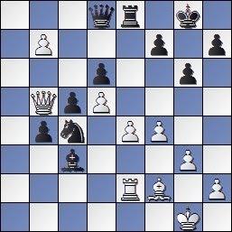 Partida Alekhine - Valles en el IV Torneo Internacional de Ajedrez de Sabadell 1945, posición después de 31...Cxc4