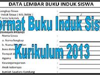 Download Format Buku Induk Siswa Kurikulum 2013