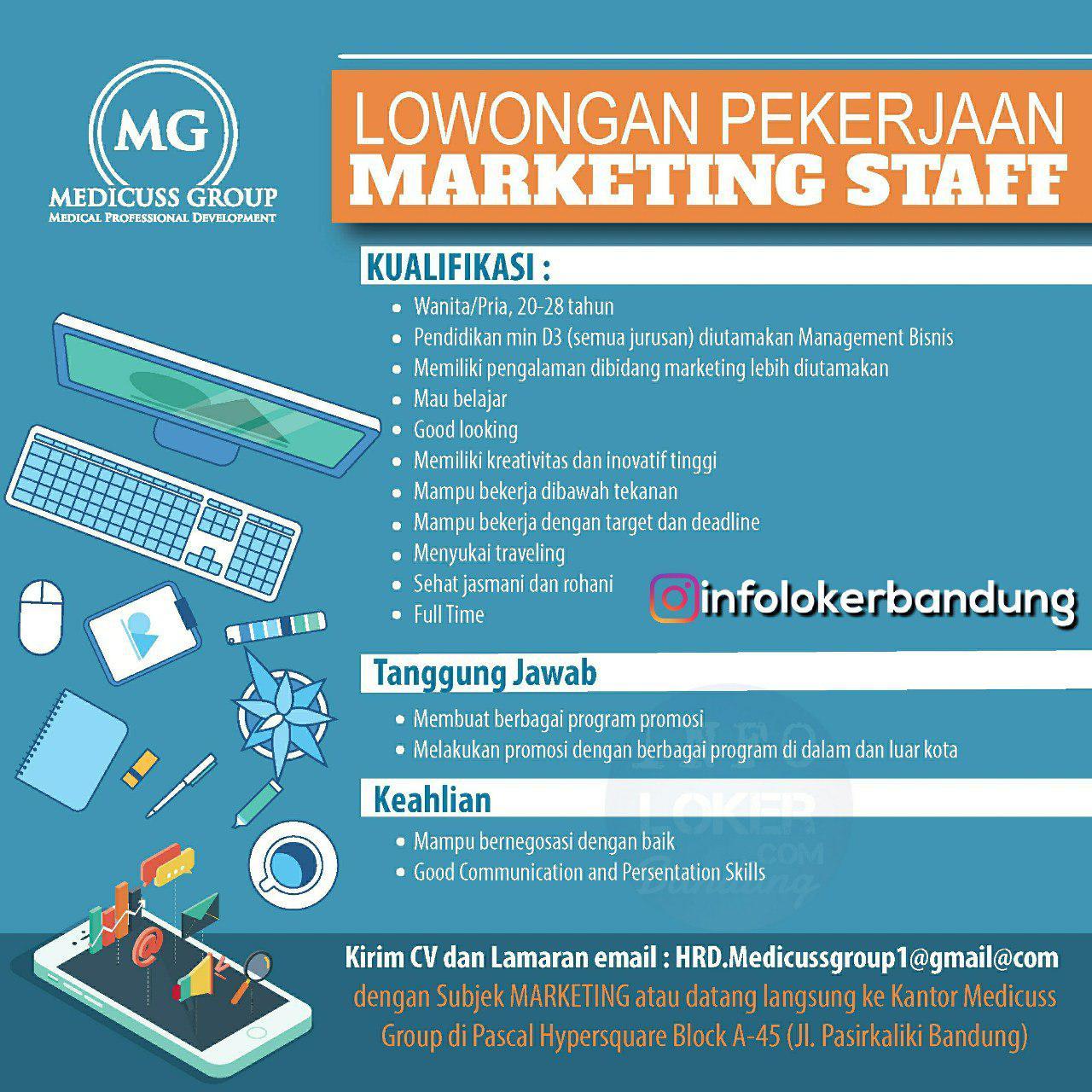 Lowongan Kerja Medicuss Group Bandung Mei 2018