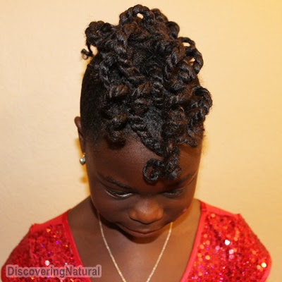 Big Sis's Graduation Natural Hair: Twisted Mohawk Hairstyle