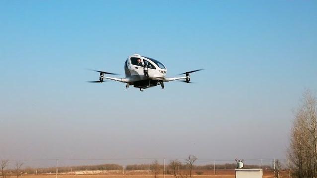 Drone EHANG 184 Diuji Coba Terbang Dengan Penumpang