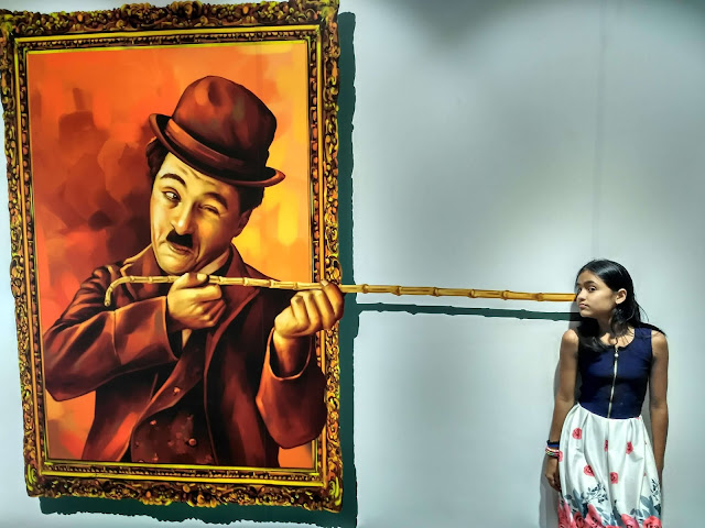 3d Art Paining of Charles Chaplin