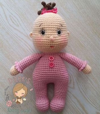 Кукла пупсик амигуруми крючком