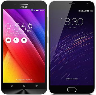 Asus Zenfone Max ZC550KL vs Meizu M2 Note