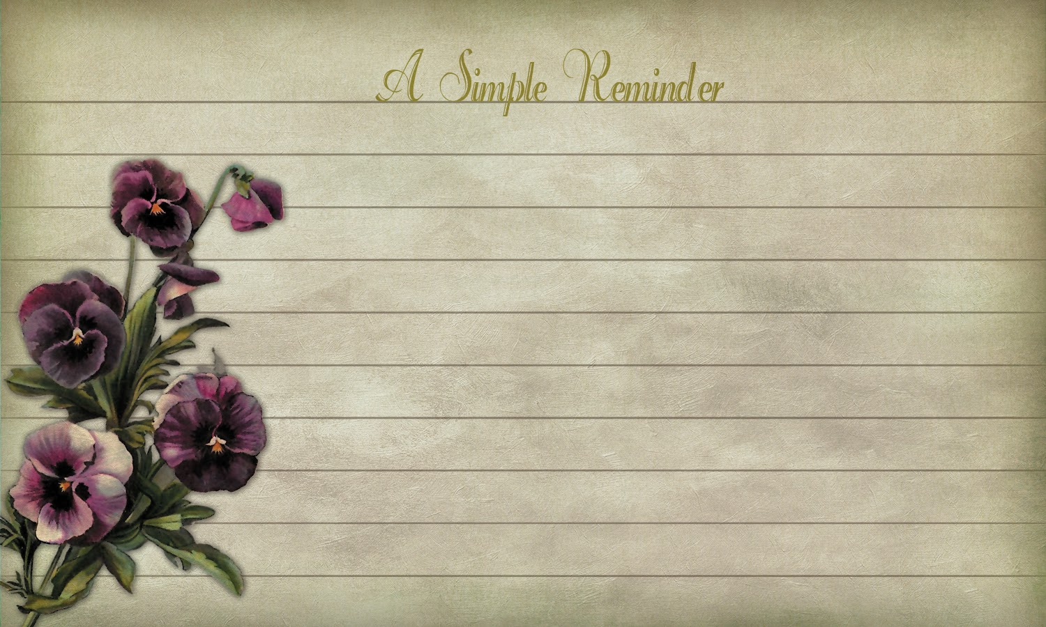 free printable reminder notes Victorian