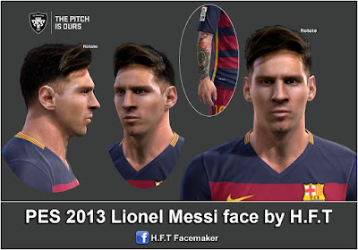 PES 2013 L.Messi face by H.F.T