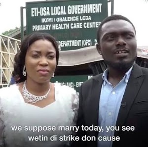 Meet Couple Who Couldn't Get Married Yesterday Due To NLC Strike