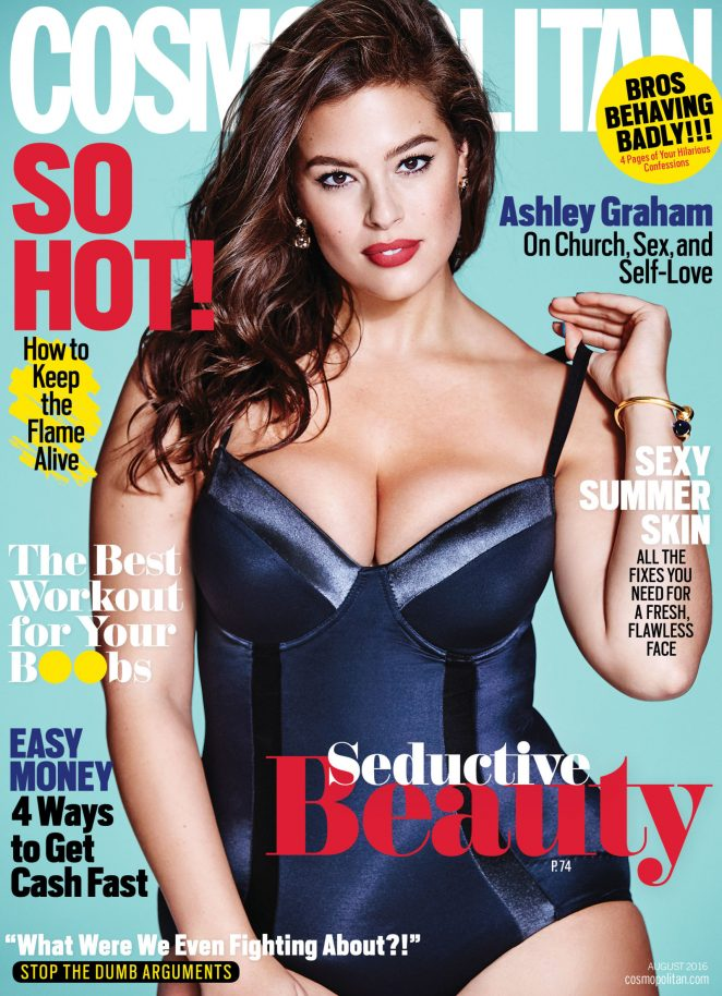 Ashley Graham bares curves for Cosmopolitan August 2016