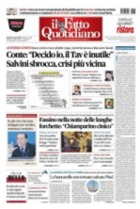 "Prima pagina de ""Il Fatto Quotidiano"""