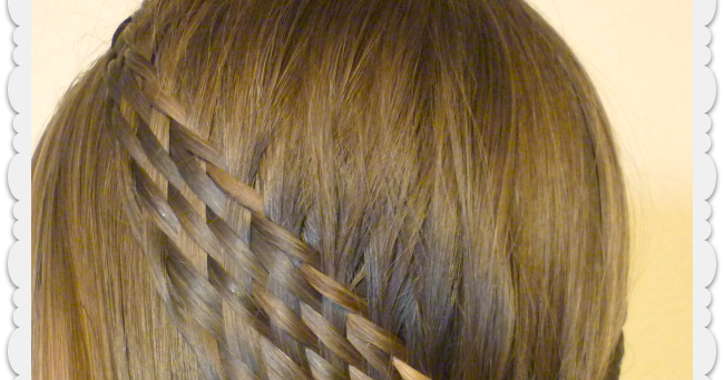 Pulled Back Hair Styles: Woven Braid Pull Back Hairstyle