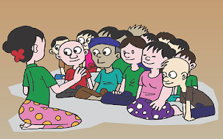 Maestra con alunni