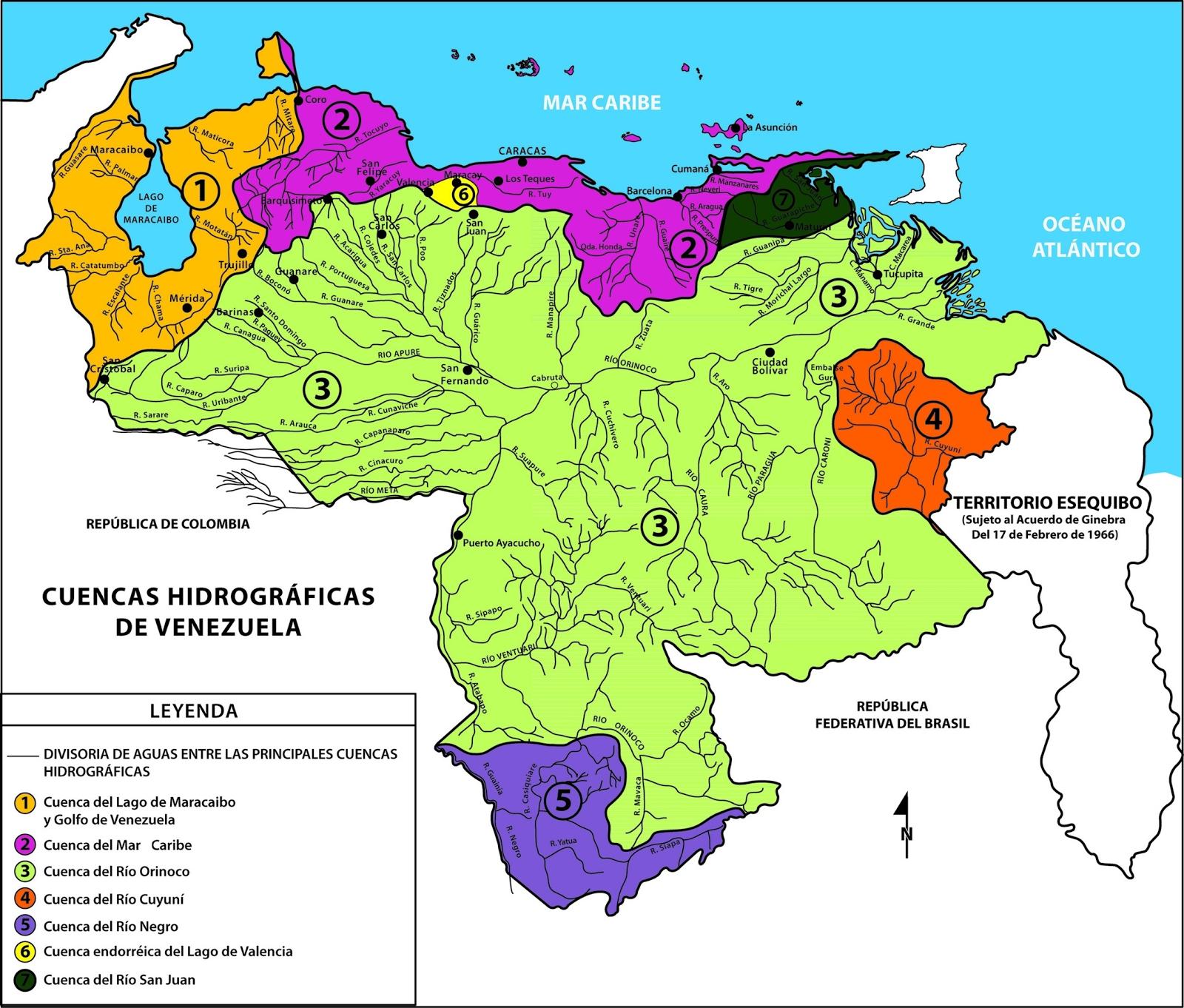 Geografia de venezuela hidrografa e hidrologa cuencas hidrograficas de venezuela fuente canaimaeducativogob altavistaventures Choice Image