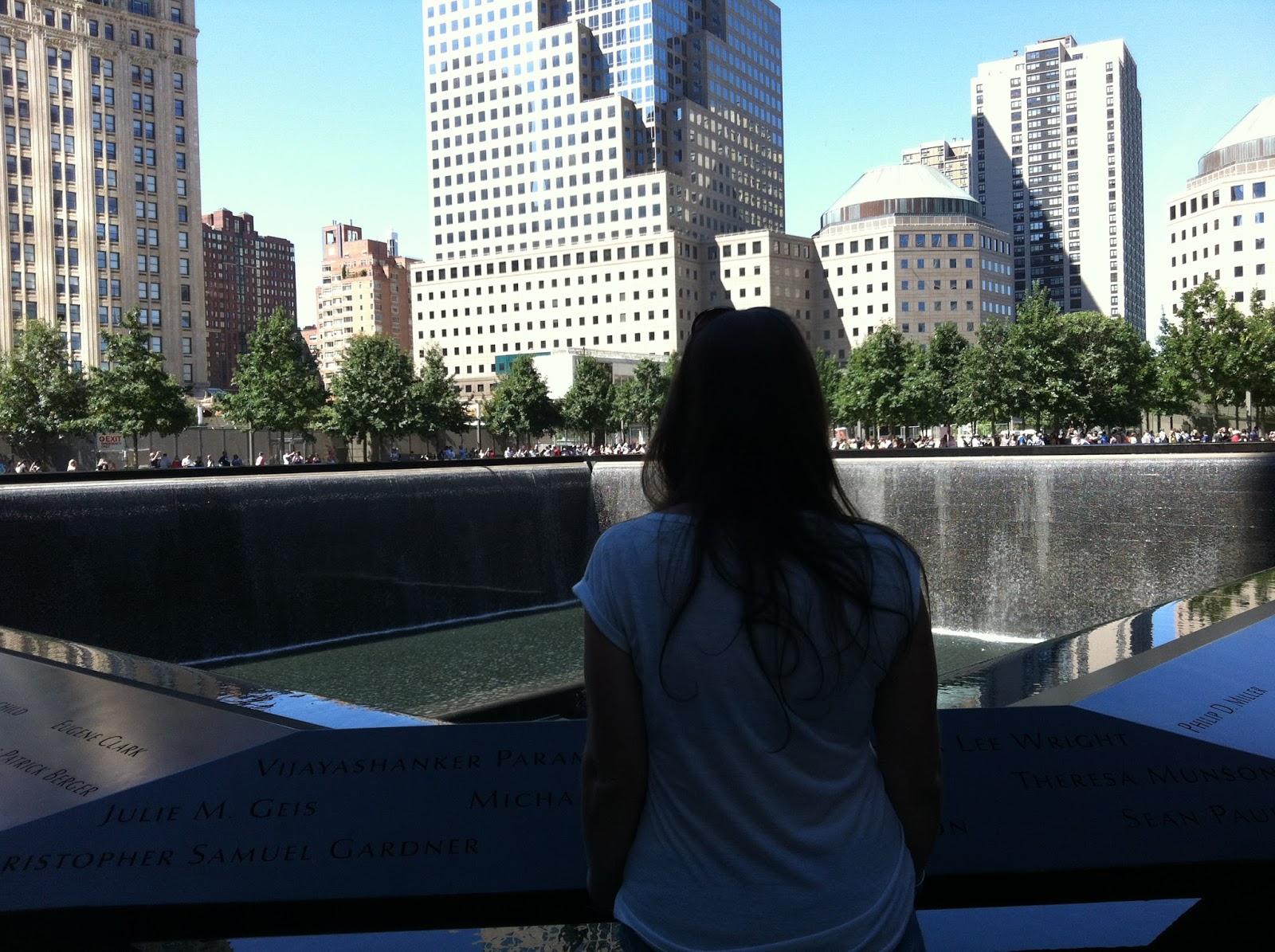 Simone at 9/11 Memorial New York City
