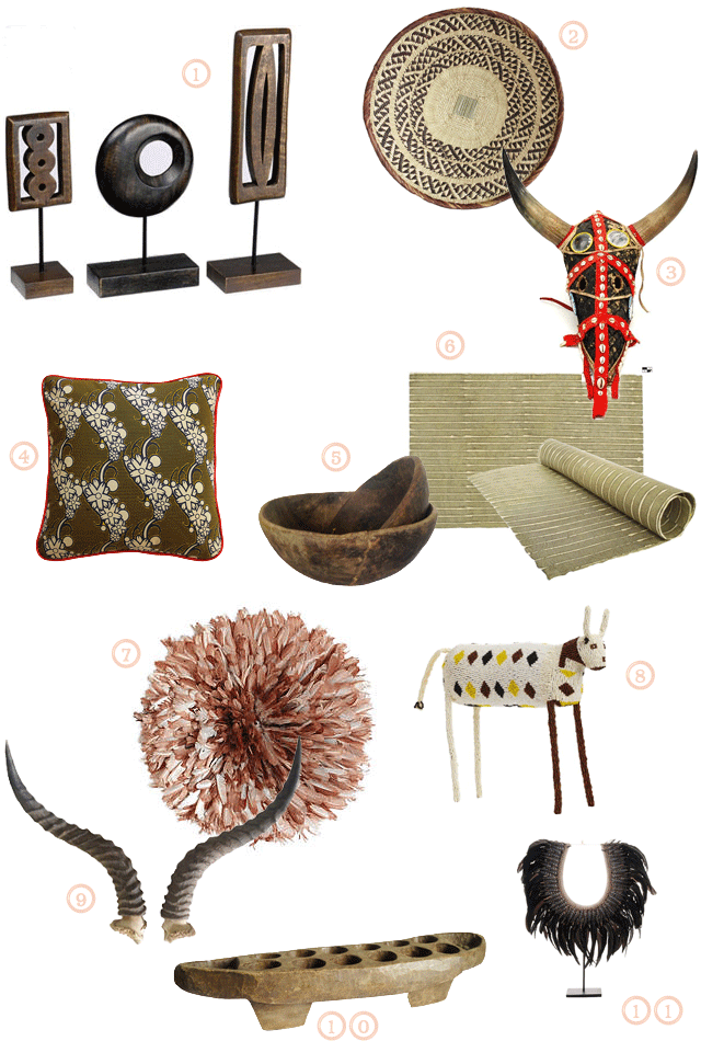 objets deco africains