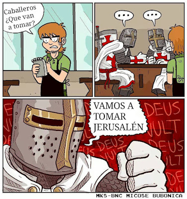 Meme humor cruzados toma de Jerusalén