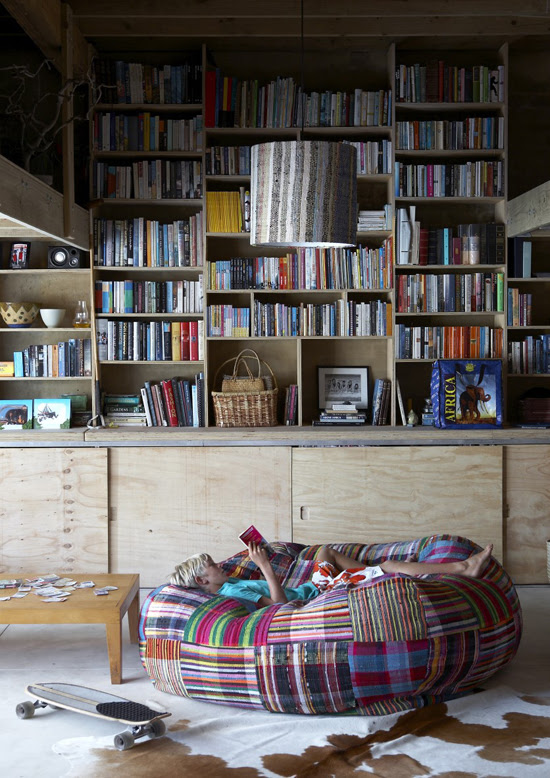 Safari Fusion blog | Library style | A relaxed coastal reading room at Soul Arch Plettenberg Bay, South Africa