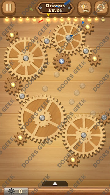 Fix it: Gear Puzzle [Drivers] Level 26 Solution, Cheats, Walkthrough for Android, iPhone, iPad and iPod