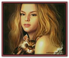 Девушка и неизвестный зверек