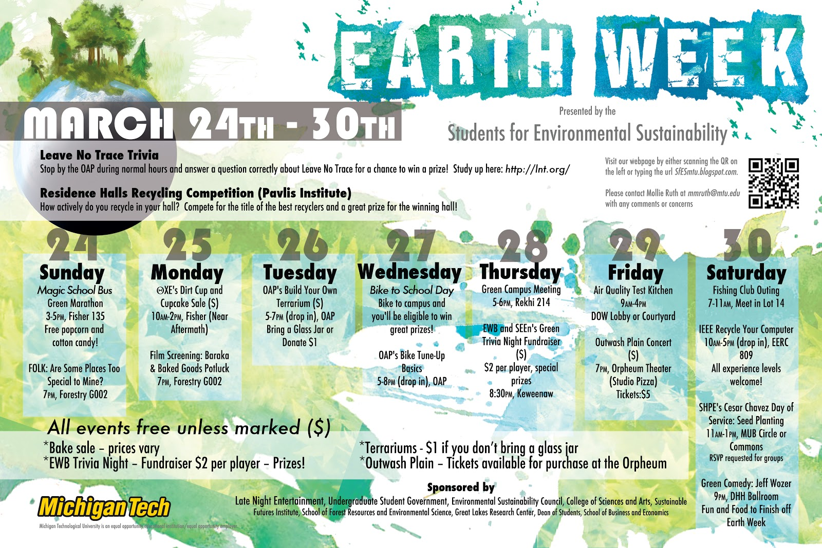 Students For Environmental Sustainability Earth Week