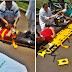 Quedas de motocicleta deixam feridos