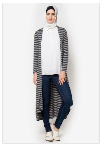 Model Baju Muslim Cardigan Panjang Modern Terbaru