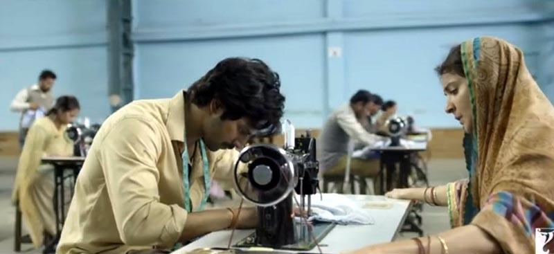 फिल्म सुई धागा के ट्रेलर से लिया गया एक चित्र