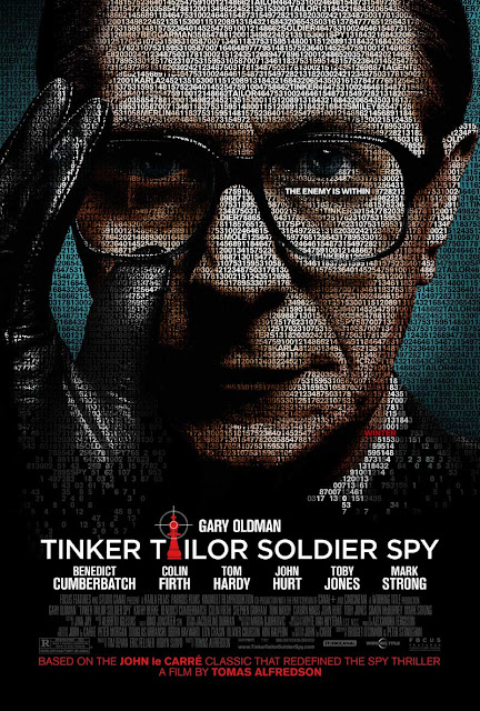 Gary Oldman as George Smiley, Tinker Tailor soldier Spy, Poster, Directed by tomas Alfredson, based on a John le Carré's novel