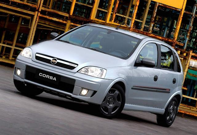 Chevrolet Corsa - veículo mais vendido da GM no Brasil