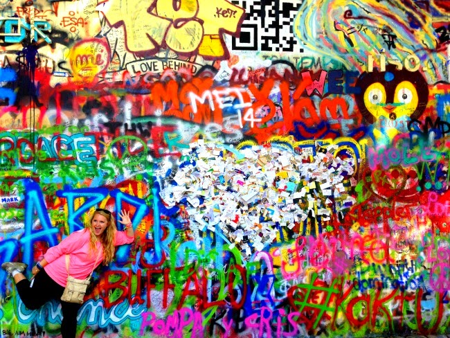 Lennon Wall - Graffiti in Prague