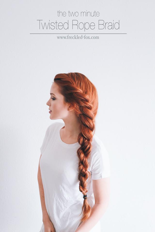 rope bun for thin hair