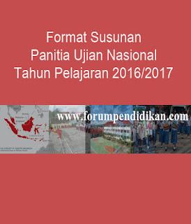 Format Susunan Panitia Ujian Nasional Tahun Pelajaran 2016/2017   Administrasi Ujian Nasional