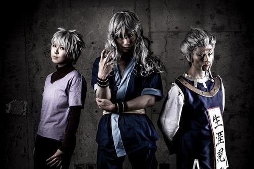 cosplay hunter x hunter keluarga zoldyck, killua, silva, zeno