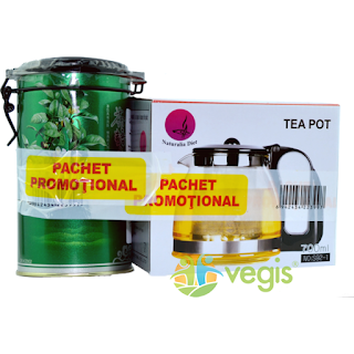 Pachet promotional ceai verde + ceainic cu infuzor comanda aici
