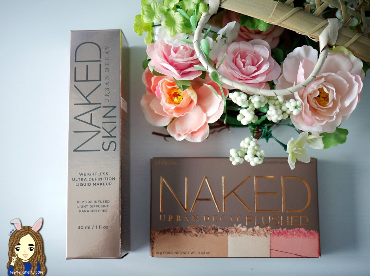 Urban Decay Review: Naked FLUSHED Palette & Naked Weightless Ultra Definition Liquid Makeup
