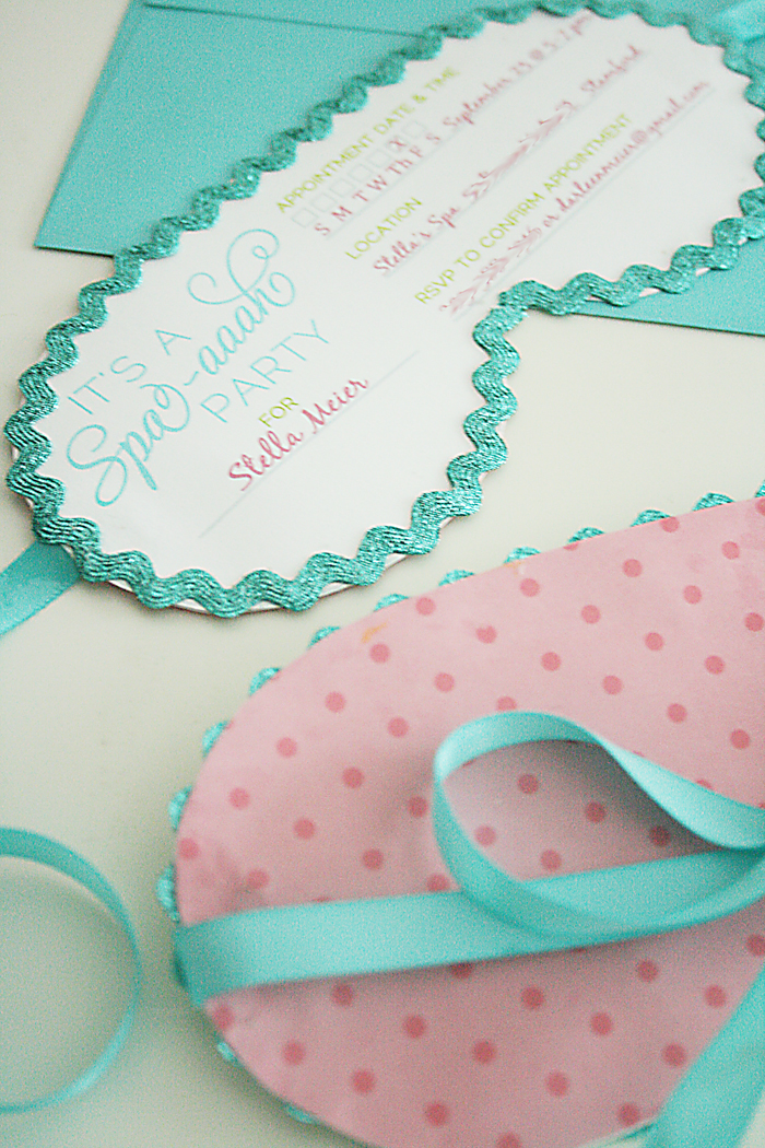 Spa Party Invitations - Darling Darleen | A Lifestyle ...