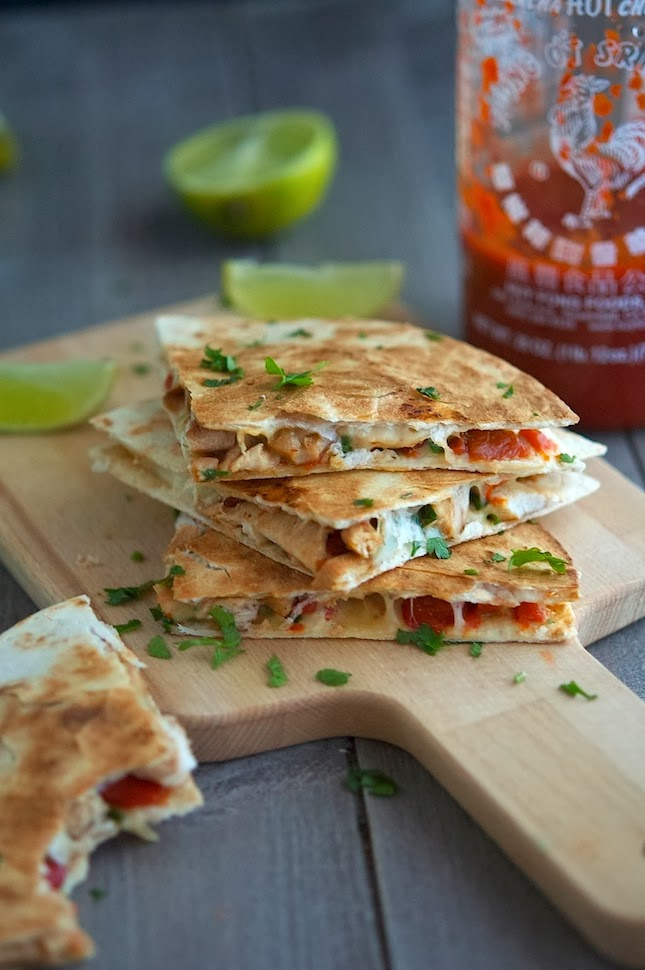 Key West Spicy Chicken Quesadillas