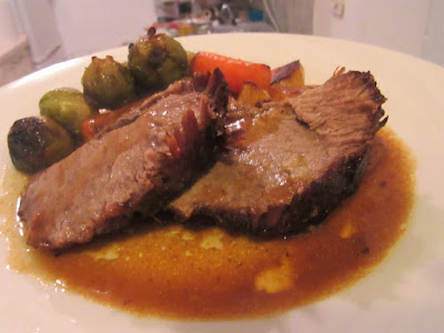 Roasted pork neck with vegetables