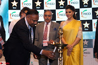 Gorgeous Jacqueline Siddharth Roy Kapur and Raj Nayak At FICCI FRAMES 2017 07.JPG