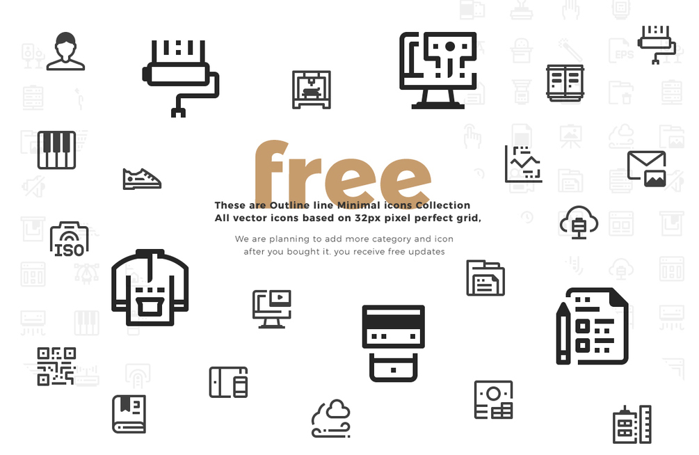 download 100 minimal icon collection free free design data