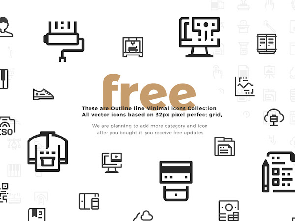 Download 100 Minimal Icon Collection Free