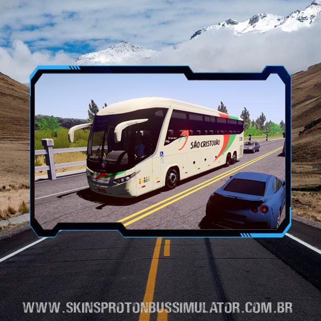Skin Proton Bus Simulator Road - G7 1200 Volvo B380R 6x2 Viação São Cristovão