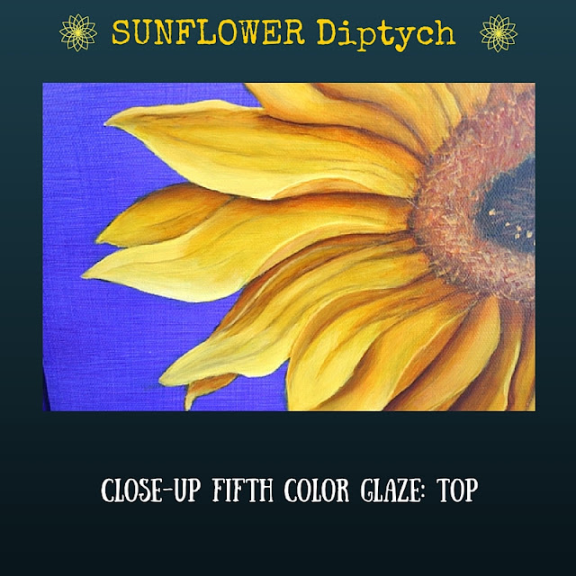 CLOSE UP Fifth color glaze TOP Sunflower