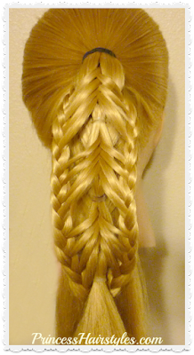Braided Edge Reverse Banded Fishtail Braid