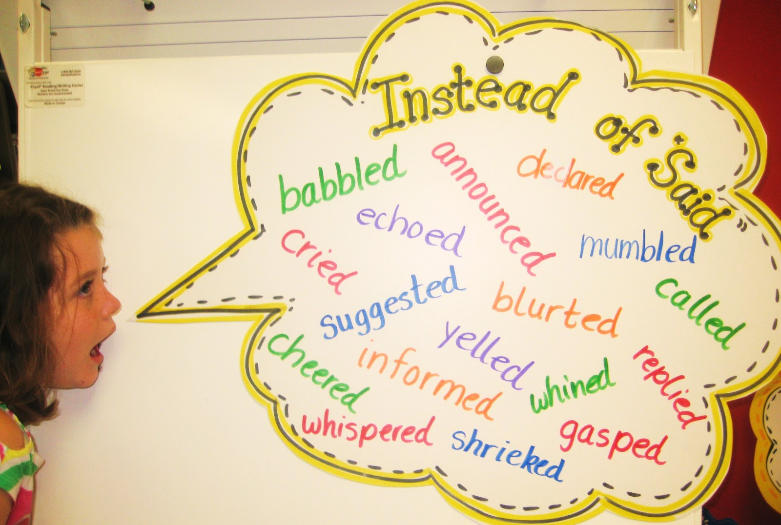 First Grade Wow: Instead Of Said