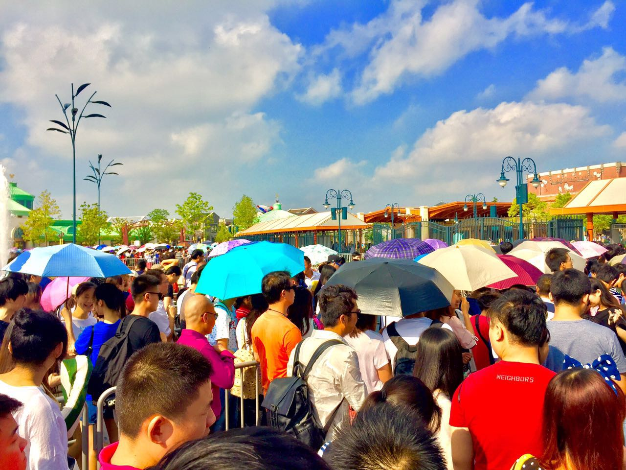 Shanghai Disneyland Security Line