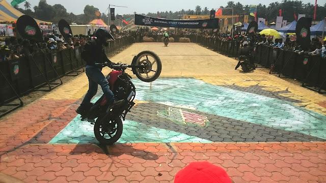 3D street Artist India, 3D chalk Artist Goa, IBW 2016 Goa, India Bike Week 2016 Goa