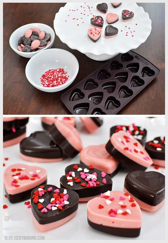 CHOCOLATE VALENTINE HEARTS #chocolate #valentine