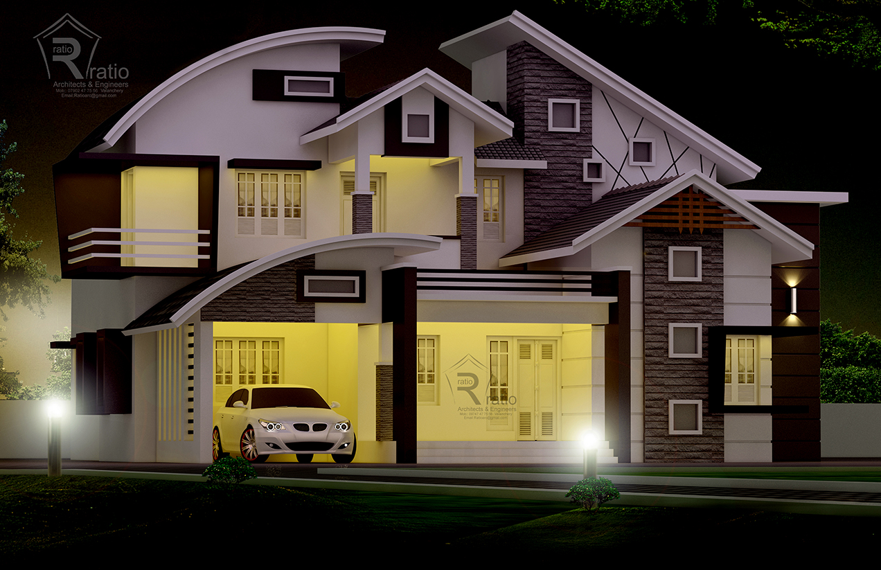 45 Lakhs 4 Bedroom 2 Floor 2600 sqft villa project Malappuram